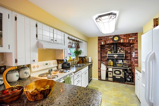 Country Kitchen, Home, Kitchen, Stove, Old, Antique