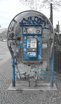 Phone, Phone Booth, Graffiti, Street Art, Urban Art