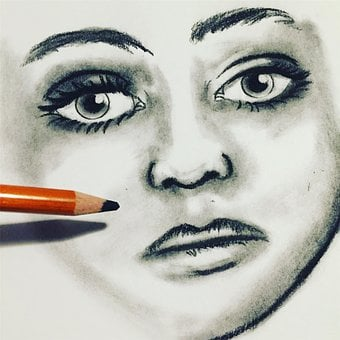 Drawing, Charcoal, Progress, Sketch, Video, Design