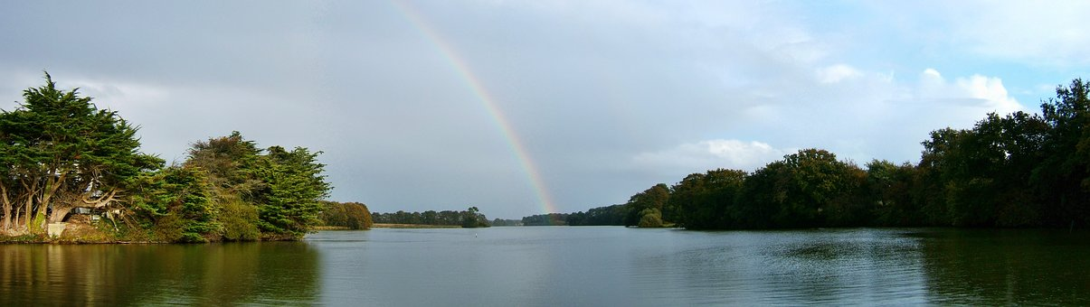 Rainbow Over The Golf, Morbihan, France