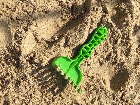 Sand, Sand Pit, Spie, Playground, Toys, Digging, Beach