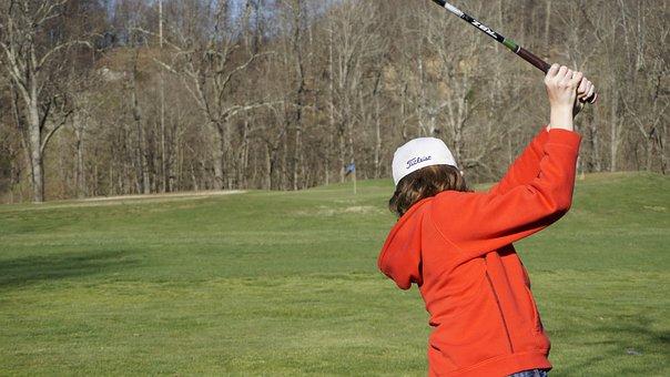 Golf, Winter, Golf Course, Junior, Swing, Titleist