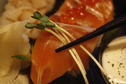 Sushi, Salmon Times, Time, Japanese, Fish, Food, Salmon