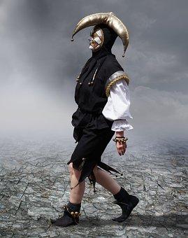 Harlequin, Venezia, Face, The Mask, Masquerade