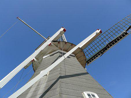 Rysumer Mühle, Windmill, Rysum, Northern Germany