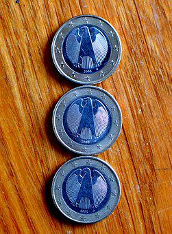 Euro Coins, 2 Euro, Coins, Money, European Currency