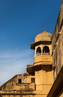 Mughal, Ancient, Masonry, Carve, Enormous, Geometric