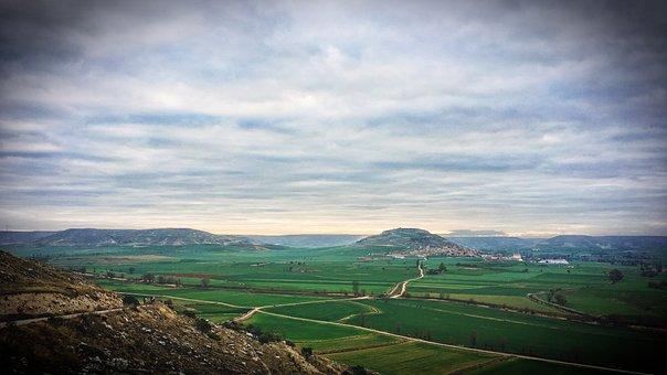 Spain, Asia, Rice Patties, Landscape, Nature, Clouds