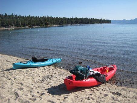 Lake Tahoe, Meeks Bay, Kayak, California, Beach