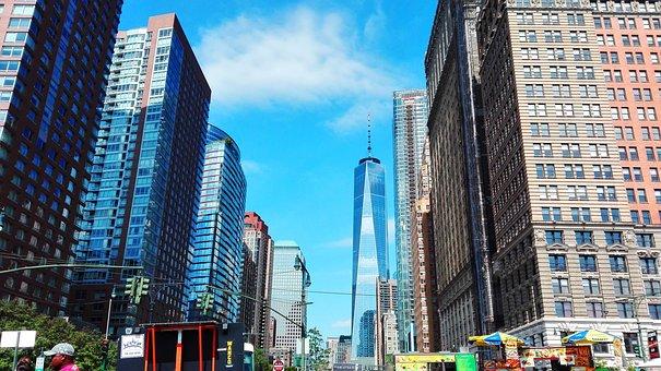 New York, Usa, City, Building, Manhatan, Central