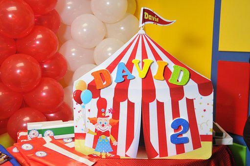 Party, Balloons, Circus, Colorful, Candies, Carp, Gifts