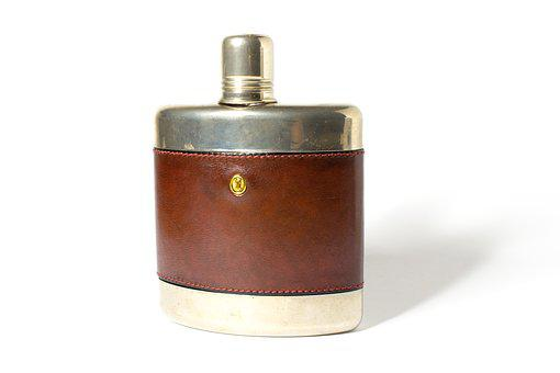 Hip Flask, Alcohol, Drink, Classic, Old, Retro, Hipster