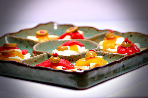 Crackers, Dishes, Desserts, Olives, Roasted Peppers