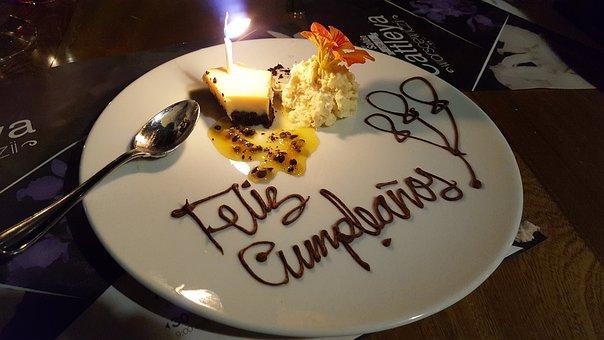 Cumple Años, Torta, Comu, Celebration, Birthday, Happy