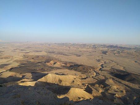 Israel, Endless, Desert, Sky