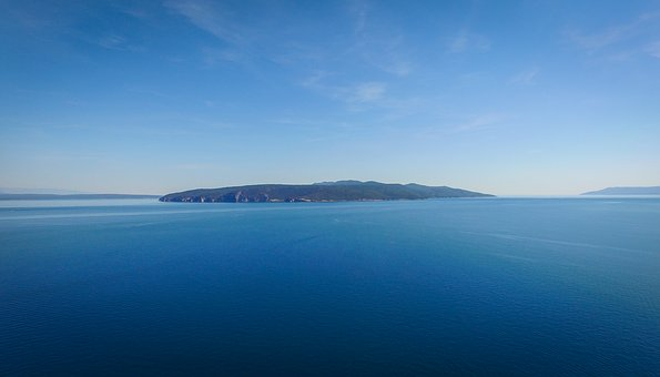 Island, Cres, Sky, Croatia, Blue, Sea, Europe