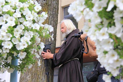 Franciscan, Monk, Catholic, Christian, Old, White Hair
