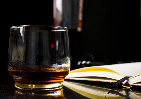 Glass, Whiskey, Book, Address Book, Reading, Alcohol