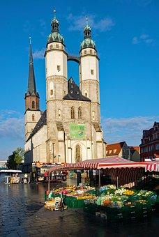 Hall, Saale, Saxony-anhalt, Germany, Marketplace