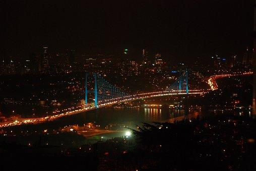 Martyrs Bridge In July, Istanbul, Landscape