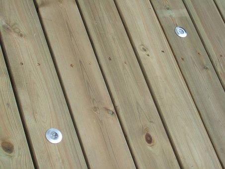 Decking, Wood, Deck, Lights, Led, Wood Deck, Plank