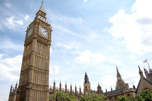 London, Elizabeth Tower, Big Ben, England, Landmark, Uk