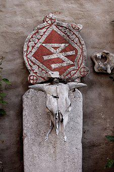 Skull, Rune, Headstone, Medieval, Ancient, Warrior