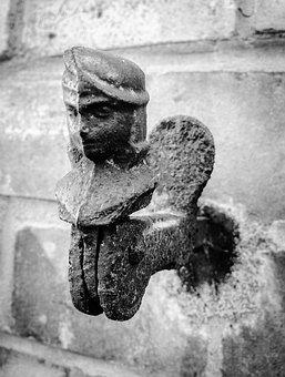 Metal Figure, Wall Figure, Figure, Metal, Sculpture