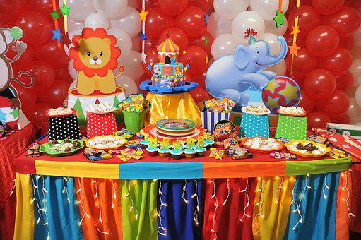 Party, Balloons, Colorful, Lights, Candies, Circus