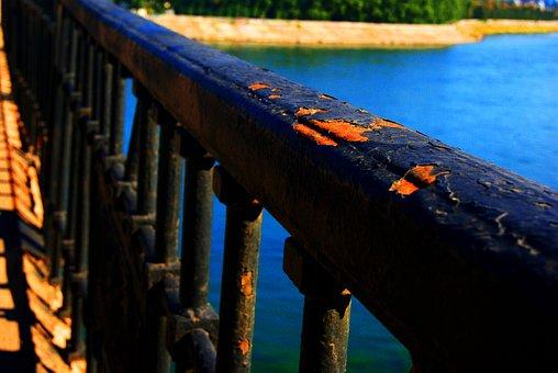 Bridge, Irkutsk, Water, Rust