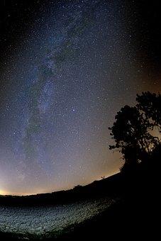 Milky Way, Galaxy, Star, Space, Nature, Summer, Shining