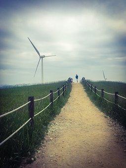 Nature, Dating, Windmill, Hill, Field, Landscape, Sky