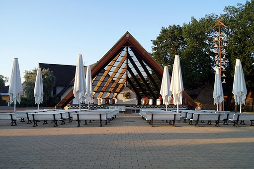 Spreewald, Castle, Kurplatz, Stage, Benches, Relaxation