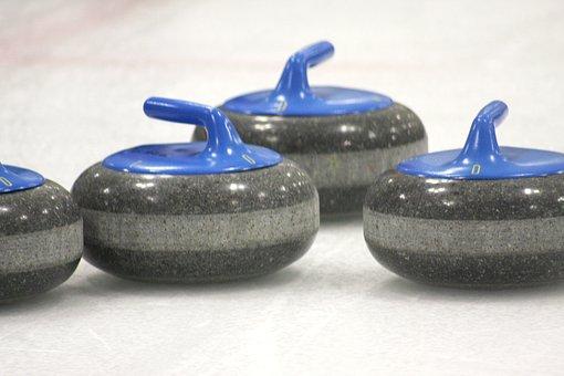 Curling, Curling Stone, Ice, Stone, Winter, Sport
