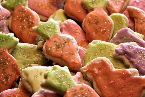 Cookies, Cutout, Cutout Cookies, Sweet, Homemade