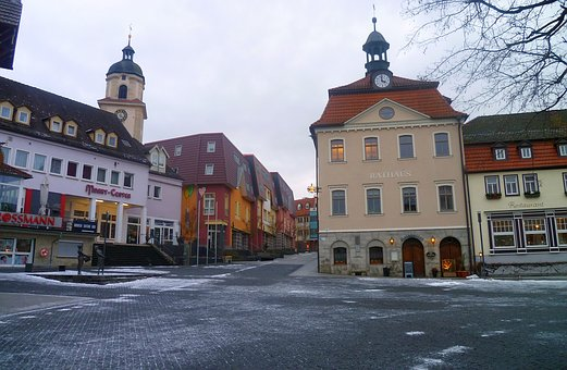 Bad Salzungen, Thuringia Germany, Town Hall, Space