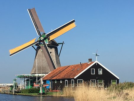 Windmill, Holland, Dutch, Netherlands, Traditional
