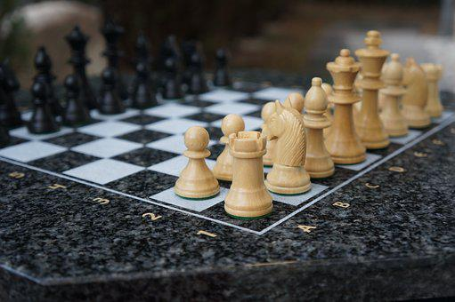 Chess, Play, Chess Board, Chess Game, Figures, White