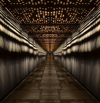 Tunnel, Budapest, Lighting, At Night, Night Picture