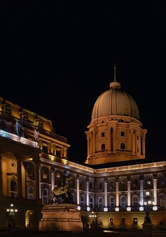 Buda Castle, Budapest, Castle, At Night, Scape