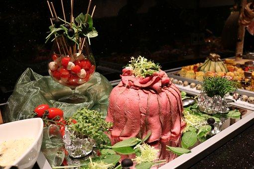 Buffet, Fish, Meat, Cold Buffet, Frisch, Eat, Food
