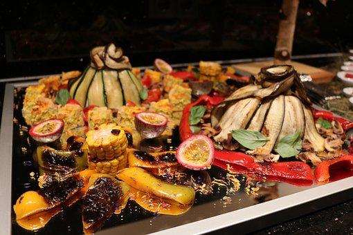Buffet, Fish, Vegetables, Cold Buffet, Frisch, Eat