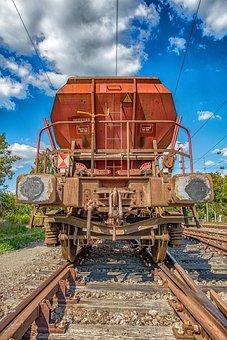 Railway, Goods Wagons, Transport, Train, Freight Train