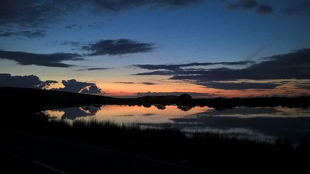 Sunset, Gower, Swansea, Wales, Evening, Clouds