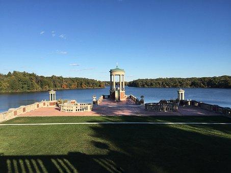 Lake, Landscaping, Water, Pond, Landscape, Summer