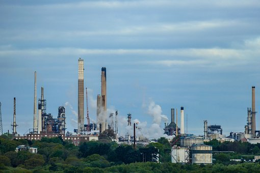 Refinery, Oil Refinery, Oil, Industry, Mineral Oil