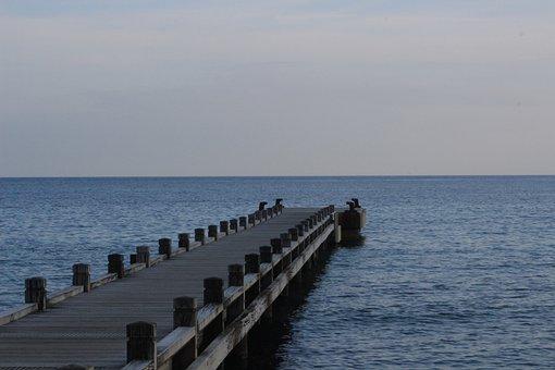 Sea, Sky, Cloud, Grey Clouds, Blue, Landscape, Ocean