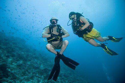 Dance Under Water, Ocean, At The Bottom, Buoyancy