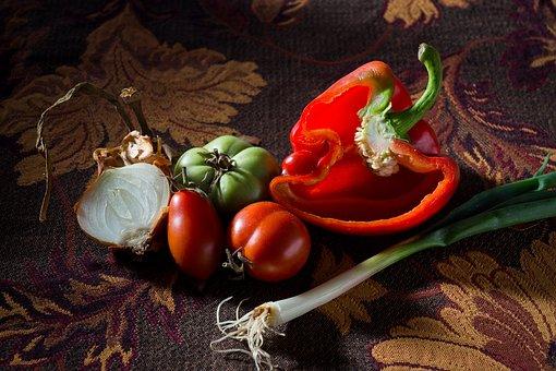 Paprika, Tomato, Leek, Vegetables, The Freshness