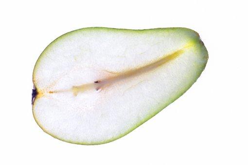 Fruit, Pear, Green, Eating, Ripe Fruit, Cut Fruit